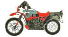 BMW R 100 Model R 100 GS PD (red) ピンバッジ